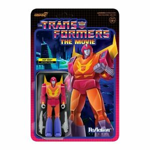 """Transformers Hot Rod 3.75"""" ReAction Figure. Nice New Package. 2021. Super 7"""
