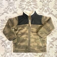 Carters Baby Toddler Boys Fleece Camouflage Sherpa Collar Coat Jacket 18 Months