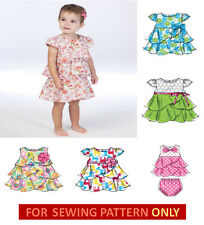 SEWING PATTERN! MAKE BABY GIRL DRESS~PANTIES! 6 STYLES! SUMMER CLOTHES! 5 SIZES