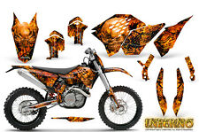 KTM GRAPHICS KIT SX SXF 07-10, EXC XCF 08-10-11, XCW 08-10-11 DECALS INFERNO NP