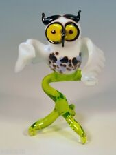 Glass Blown Art Figurine Murano Bird OWL   # 6713