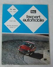 Revue technique EXPERT AUTOMOBILE n° 45 1969 DAF 55 Alfa-romeo 1300 TI