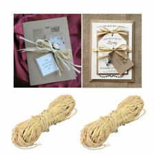 6pcs Packaging Rope Chic Unique Natural Raffia Braided Ribbon for Daily Use Home