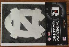 North Carolina Tar Heel Chrome Graphic Vinyl Window Decal Lic NCAA  5 1/2x4 1/2