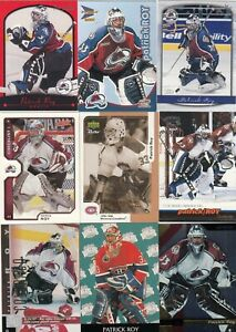 PATRICK ROY a lot of 9 DIFFERENTS CARDS near mint   LOT 63