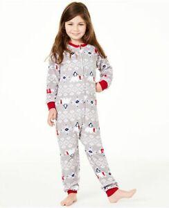 Family PJs kids Gray Polar Bear Penguin Pajamas Unisex xs 4/5 4 5
