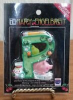 "NEW Mary Engelbreit Letter ""P"" Initial -Pig -Pencil Super Magnet Enesco 2"" x 2"""
