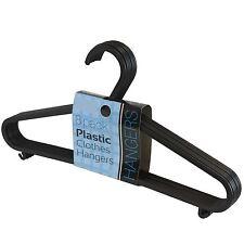 8 Pack Adult Plastic Clothes Hangers Coat Garment Trouser Bar Strap Lip Hooks