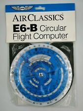 Air Classics E6-B Circular Flight Computer Completo Istruzioni