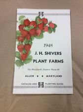Original Booklet 1948 J.H. Silver Plant Farms Allen Maryland INV-P1065