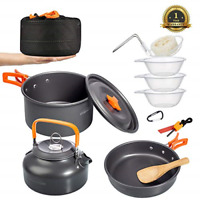Ultralight Camping Cookware Set Camping Stove Outdoor Cooking Mess Kit Pots Pans