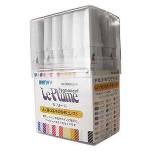 marvy Rupurumu 24 colors basic set 3000-24A alcohol ink marker art New pen F/S