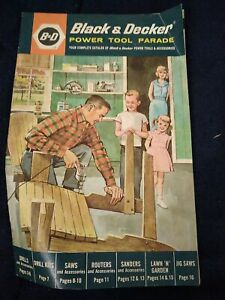 1962 Black & Decker power tool catalog 16 pages