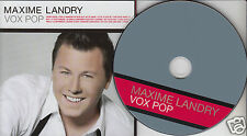 MAXIME LANDRY Vox Pop (CD 2009) 14 Songs Star Academie Quebec