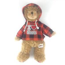 "I Heart SF Giants Bear with Hoodie 14"""