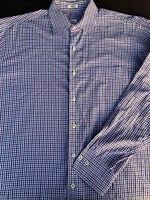 Peter Millar Mens Button Front Long Sleeve Cotton Plaid Shirt Large L