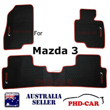 Tailor Made custom-made all weather rubber car floor mats for Mazda 3