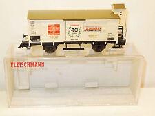 Fleischmann H0 5806 K gedeckter Güterwagen mit Bremserhaus, 40 Jahre Fleischmann