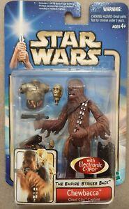 STAR WARS - ESB Chewbacca with Electronic C-3PO Figure #38 Card New Hasbro ('02)