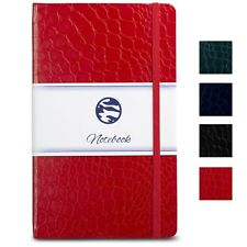 Journal | Notebook A5 - Crocodile Textured Hardcover, Premium Paper - Red