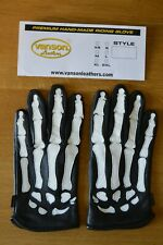 **AWESOME SAUCE** SUPREME X VANSON Leather Skeleton X-Ray Gloves SMALL