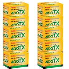 10 Rolls Kodak TX Tri-X 400 135-24 Pan Black & White 35mm Film