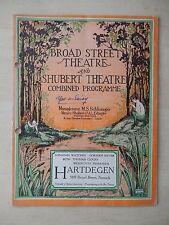 October 1st, 1928 - Broad Street Theatre Playbill - Ups-a-Daisy - Nell Kelly