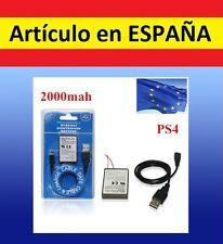Batería negra MANDO PS4 2000mAh cargador USB playstation 4 repuesto reparacion