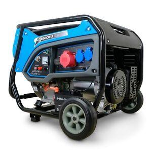 DeTec. Stromerzeuger Notstromaggregat Benzin Stromgenerator Notstromer 6 kW 400V