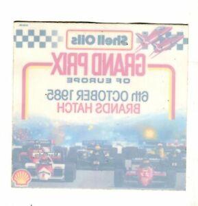 Grand Prix of Europe Brands Hatch 1985 original sticker autocollant adhesivo