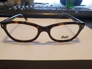 NEW Dolce & Gabbana Eyeglasses D&G 1205 502 Havana, Size 50-17-135 PERFECT
