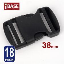20x Quick Release Buckle Clip Side Cord Strap Fastener Belt Dual Adjustable 38mm