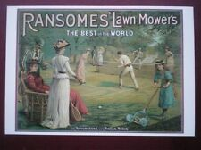 POSTCARD  RANSOMES LAWN MOWERS - THE BEST IN THE WORLD