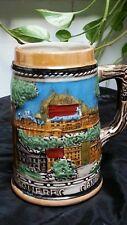 VINTAGE CANADIAN BEER MUG QUEBEC BEER MUG  CERAMIC BEER MUG EMBOSSED GLASS