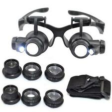 10/15/20/25X LED Eye Jeweler Watch Repair Magnifying Glasses Magnifier Loupe New