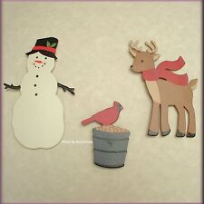 WINTER FRIENDS METAL MAGNETS SET OF 3 EMBELLISH YOUR STORY FREE U.S. SHIPPING