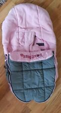 Jane Carseat Footmuff Cosy Toes Pink Grey Strata