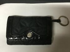 Vera Bradley mall credit card, coin purse, wallet in black quilted pattern