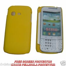 Pellicola + custodia BACK cover GIALLA per Samsung Galaxy Chat B5330