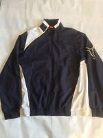 Puma Navy + White Windbreaker Jacket - Size Medium - Vintage
