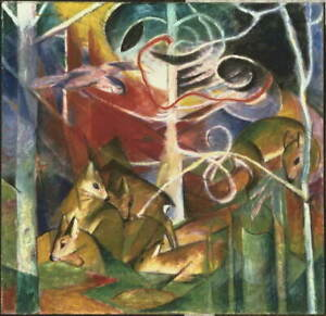Franz Marc Deer in the Forest I Giclee Art Paper Print Poster Reproduction