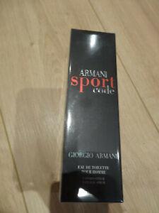 Armani Code Sport, Eau de Toilette, 100ml, Neu und original verpackt