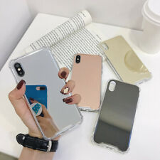 Transparent Bumper Shockproof Armor Luxury Mirror Hard Back Phone Case Cover