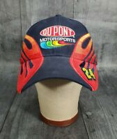 Dupont Motorsports Nascar Jeff Gordon 24 Flames navy blue Cap Hat chase