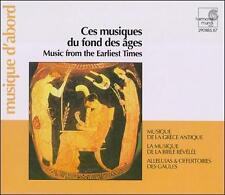 Music from the Earliest Times (CD, Feb-1999, 3 Discs, Harmonia Mundi (Distributo