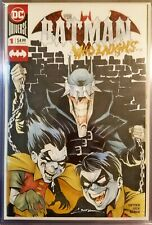 DC THE BATMAN WHO LAUGHS # 1 BLANK ORIGINAL SKETCH ART JOKER  ROBIN