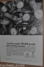 1966 Bulova Watch advertisement, Bulova Accutron, pile of wrist watches