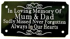 PERSONALISED MEMORIAL BENCH PLAQUE ENGRAVED GRAVE MAKER SIGN 120mm X 55mm