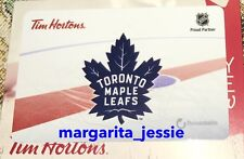 TIM HORTONS GIFT CARD 2016 TORONTO MAPLE LEAFS NHL NO VALUE FD53944 NEW CANADA