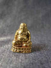 Small Brass Buddhist Icon Deity Laughing Buddha